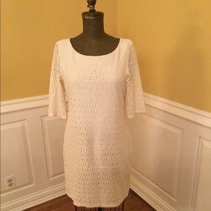 Banana Republic Cream Lace Dress